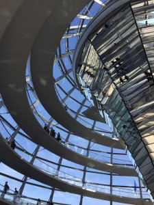 the ramp up the dome at the Reichstag