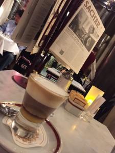 post-opera coffee at Sacher