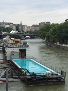 party boat in the danube canal