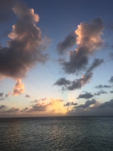 sunset after a storm, seven mile beach, grand cayman, november 2015